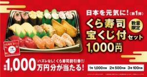 「くら寿司宝くじ付セット」販売開始