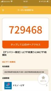 配布中のオトクル・グノシー・ニュースパス・スマートニュース・Yahoo!Japanアプリクーポン「【デリバリー限定】Lピザ1枚買うとMピザ1枚無料クーポン(2021年9月26日まで)」